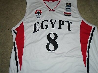 260c30e6866 FIBA Africa Team Egypt Game used Jersey and Shorts Anas Mahmoud #8