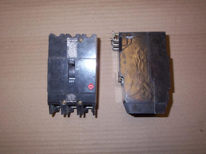 General Electric GE TEY TEY320 3 pole 20 amp 480/277v Circuit Breaker