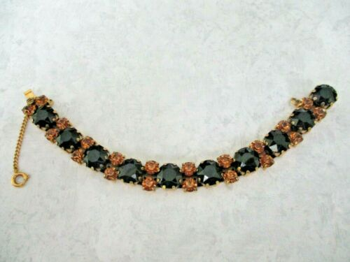 Schiaparelli Vintage Signed Rhinestone Bracelet