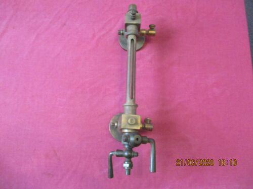 vintage portable steam engine traction engine brass water leavel gauge