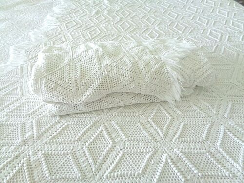 Pair of Antique Twin size Hand Crochet bedspreads or coverlets