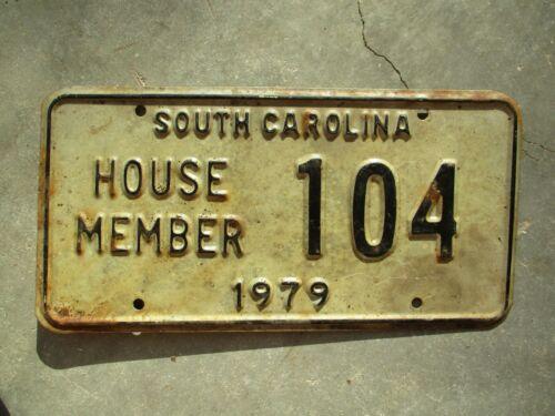 South Carolina 1979 House Member license plate #  104
