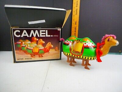 Vintage Battery Operated Tin Toy Camel w/box