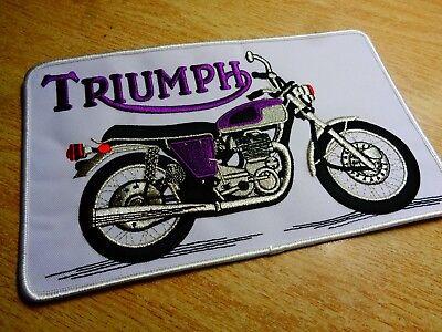 Triumph Motorcycle Patch Classic Factory Jacket Badge Vest Shirt Patch Emblem