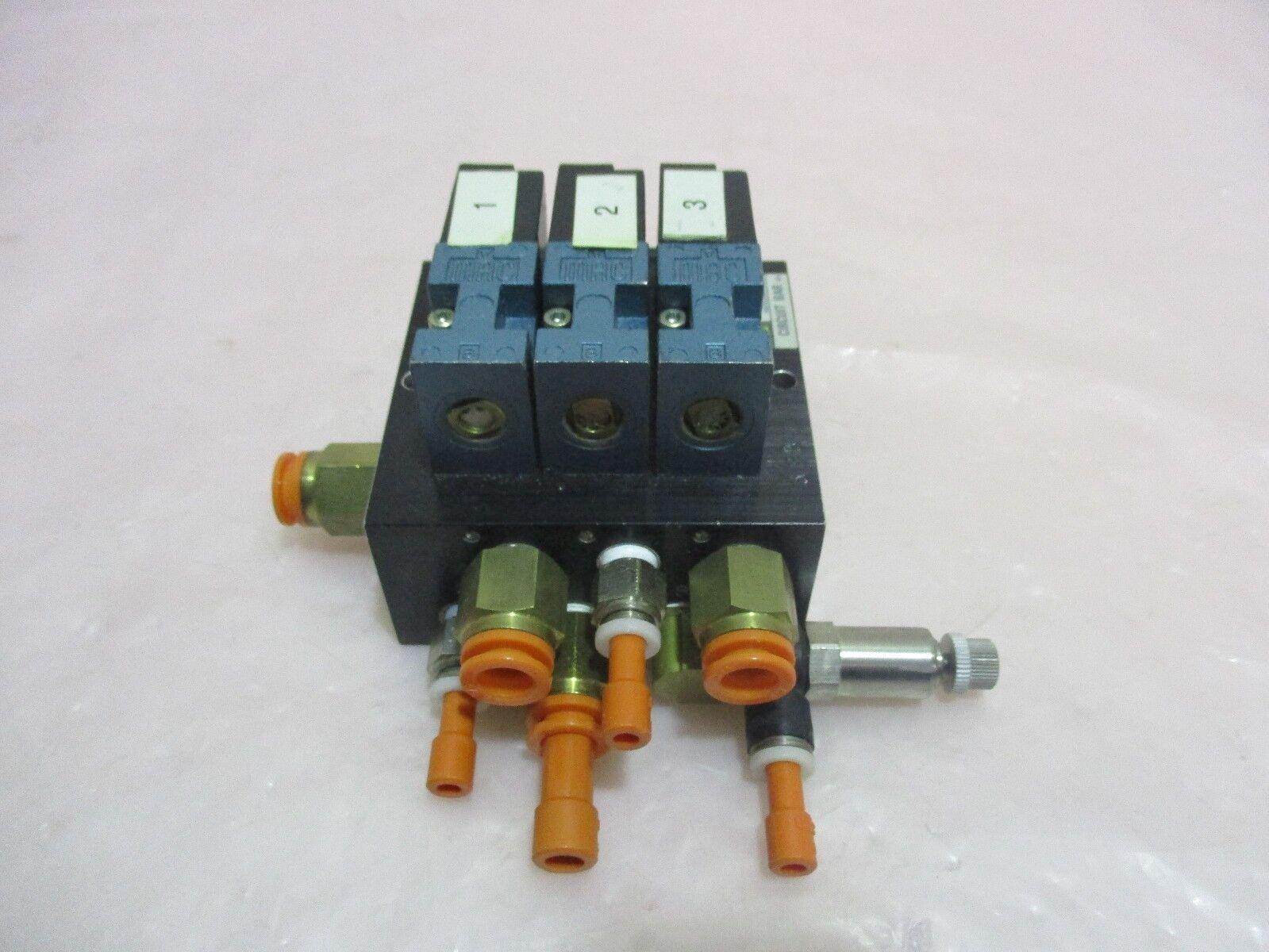 MAC 35A-B00-DDDJ-1FN, Pneumatic Manifold w/ Circuit Bar. 420156