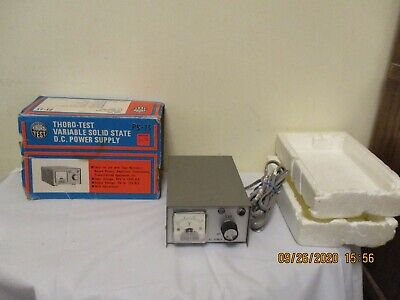 Vintage Thoro-test Ps-15 Dc Variable Solid State Power Supply 85v To 135v In Box