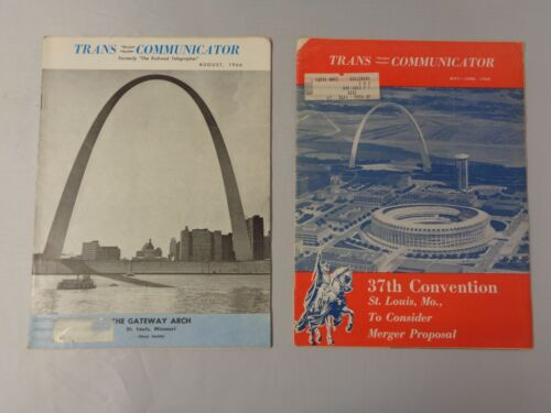 Lot of 2 vintage Railroad news Trans Communicator 1966 and 1668 St Louis Arch