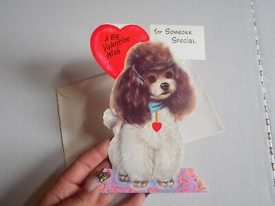 Vintage Stand Up Card Forget Me Not Valentine