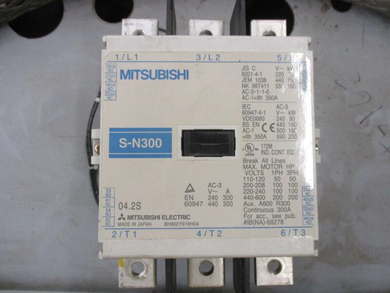 Mitsubishi S-N300, 300 Amp Contactor 200-240 Volt Coil- Warranty