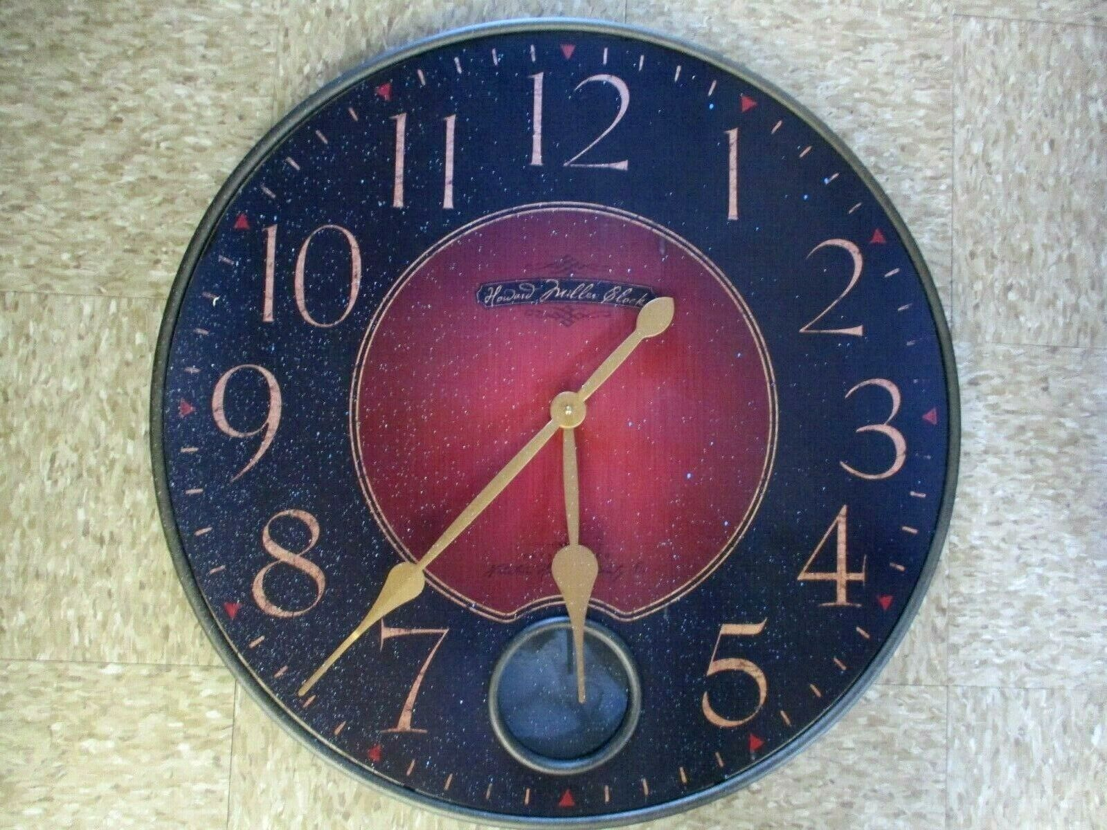 "Howard Miller 26"" Round Wall Clock 625-374 Missing Pendulum"