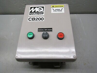 Mq Multiquip Cb-200-01 Submersible Pump Panel