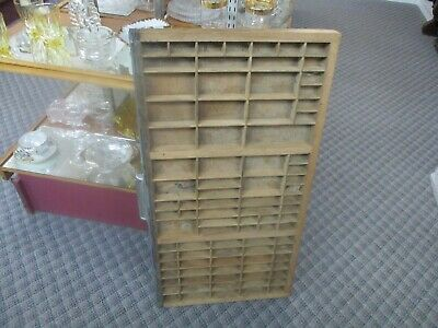 Printers Type Set Cabinet Drawer Tray Wood ANTIQUE 32