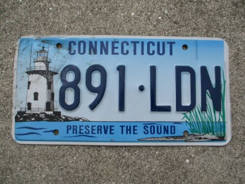 Connecticut Light House license plate #  891 - LDN