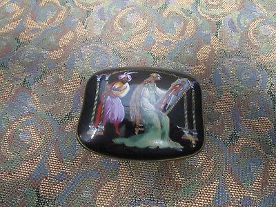 RAYMONDA Fine Porcelain Music Trinket Ring Box, Franklin Mint, 1988