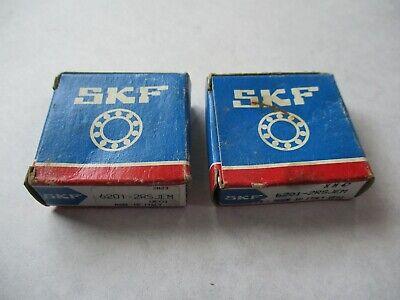 Lot Of 2 New Skf 6201-2rsjem Ball Bearings
