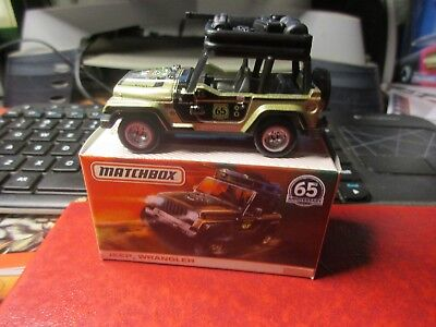 Matchbox 65th Anniversary Series = 2014 Jeep Wrangler 65th Anniversary Jeep Wrangler