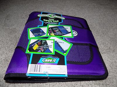 Case-it The Open Tab 3-ring Binder 2 Capacity Purple