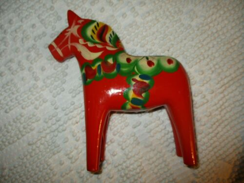 Vintage Swedish Dala Horse by Nils Olsson  6 1/2