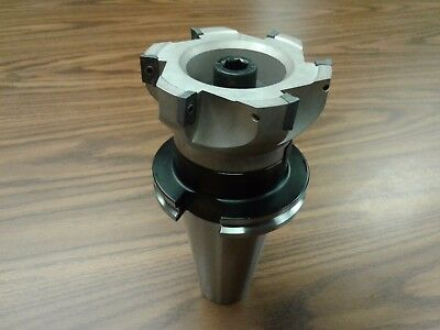 4 90 Degree Indexable Face Shell Millface Milling Cutter Apkt W. Cat50 Arbor