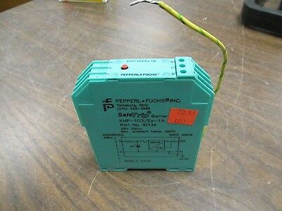 Pepperlfuchs Khp-103ex-1a Safetrip Barrier 91134 28v Used