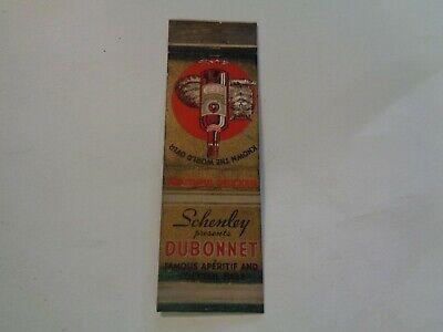 Schenley presents Dubonnet Cocktail Base Vintage Matchbook (Dubonnet Cocktail)