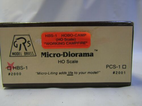 MODEL BRASS HO-HOn3 HBS-1 # 2000 HOBO CAMP with WORKING CAMPFIRE NIB