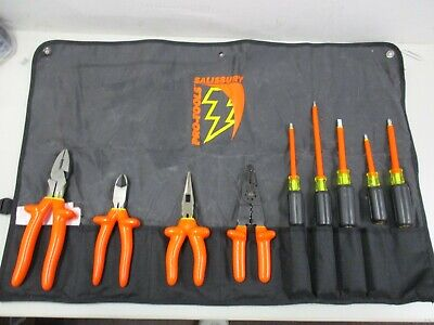 New Salisbury Pro-tools 9 Piece Insulated Tool Kit Tk9