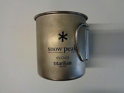 NEW Snow Peak Titanium Single Wall Cup 600 ()