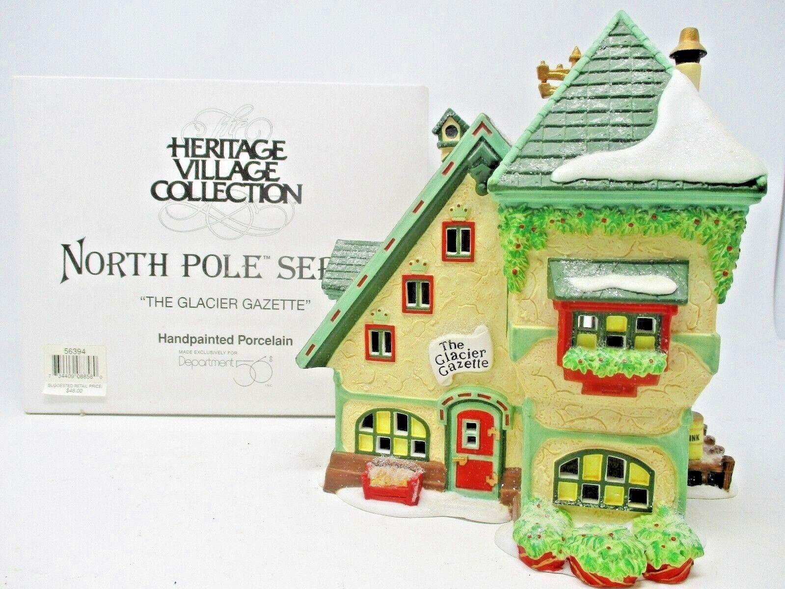 Dept.56 Heritage Village Collection North Pole Series The Glacier Gazette 1997