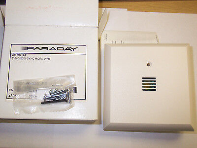 New Faraday 2831b2124 Syncnon-sync Fire Alarm Horn White