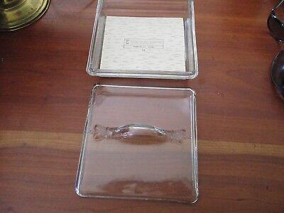 Vintage UNIQUE glass cigar box