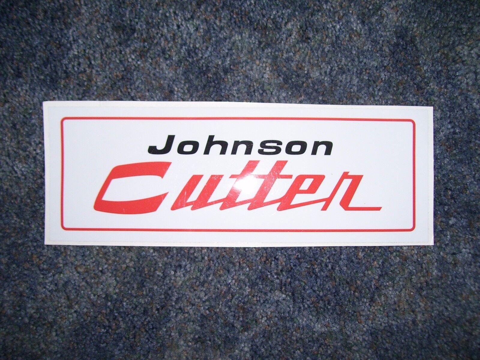 johnson snowmobile, cutter,sleigh, decal 60's,70's
