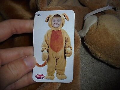 NWD boy or girl Halloween costume brown playful puppy dog WARM costume 6-12 mo - Girl Puppy Halloween Costume