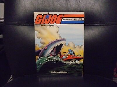 NOS 1987 MARVEL BOOKS G.I. JOE A REAL AMERICAN HERO COLORING BOOK