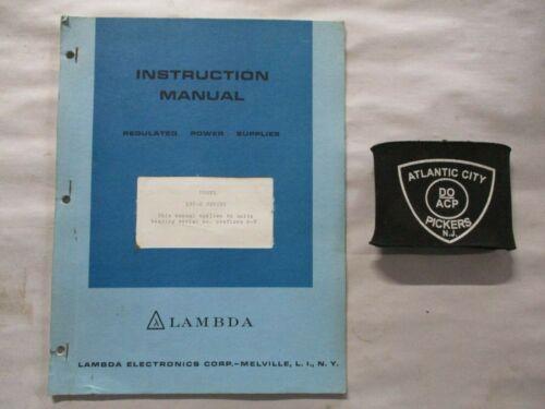 LAMBDA REGULATED POWER SUPPLIES MODEL LXS-D SERIES INSTRUCTION MANUAL