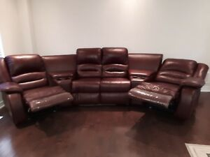 Recliner Leather Sectional Couch