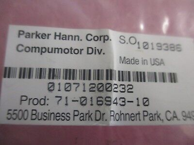 Parker Compumotor Model 71-016943-10 Cable. Unused Old Stock