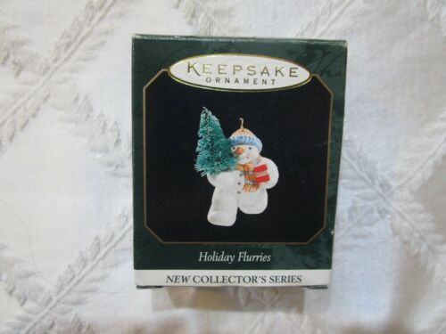 1999 CHRISTMAS MINIATURE ORNAMENT HOLIDAY FLURRIES #1 IN SERIES T3116
