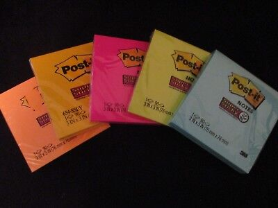 3m Post-it Notes 3 X 3 Super Sticky Assorted Bright Colors One Pad Choose