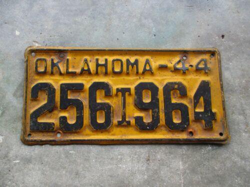 Oklahoma 1944 T license plate #   256 964
