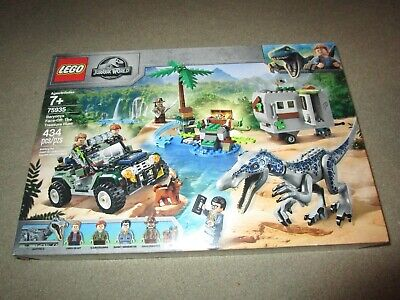 LEGO JURASSIC WORLD BARYONYX FACE-OFF: THE TREASURE HUNT SET NEW IN BOX 75935