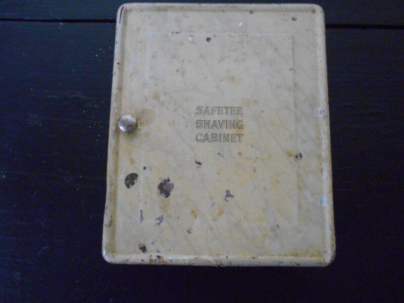 ANTIQUE VINTAGE METAL - SAFETEE SHAVING CABINET