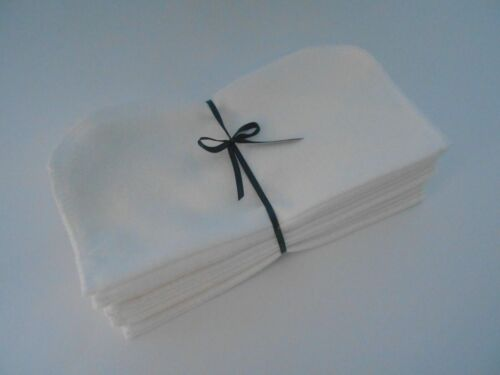 """Cloth Wipes 20 Flannel 8"""" White Reusable TP Baby Family Tissue Napkin 1 or 2 Ply"""