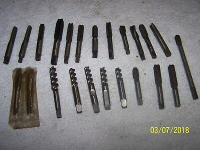 23 Pc Lot Of End Mill Cutters - Machinist Lathe Tool - 716 38 - 916