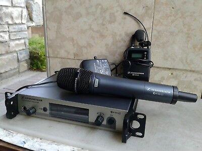 SENNHEISER EW300G3 Combo EM/SKM/SKG3 Recei/Hdheld/Bodypack Wireless Mic. System.