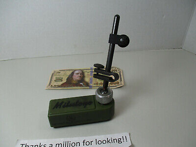 Vintage Mitutoyo Mini Magnetic Stand Base Indicator Holder Made Usa Machinist
