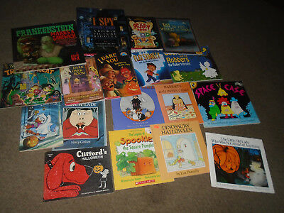 18 children's Halloween books-Candy Witch-Witch Lady/Dark Room-Space Case/I Spy