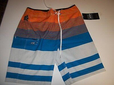 New O'NEILL board shorts swim trunks JOHN JOHN Epic stretch blue orange 28 or - Trick Or Trunk