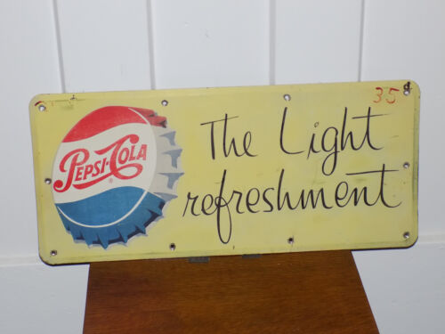Pepsi-Cola The Light Refreshment Metal Sign