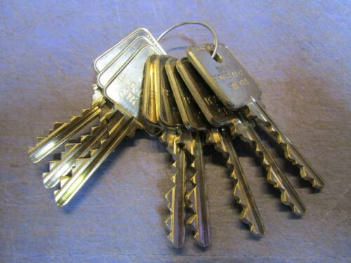 8 – MEDECO Cut Keys (all cut the same) On one side they have IML&S B3068 AA42 S